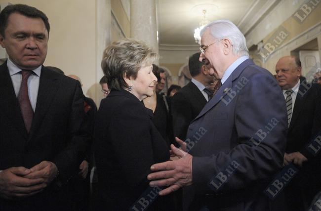 Наина Ельцина и Леонид Кравчук