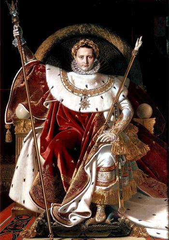 """Жан Огюст Энгр. """"Наполеон на императорском троне"""", 1806"""