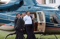 Полеты Януковича на вертолете обойдутся почти в миллион долларов
