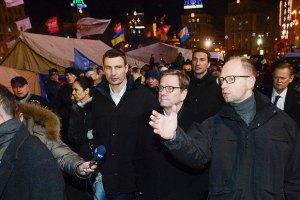 Кличко и Яценюк около часа ждут встречи с Януковичем