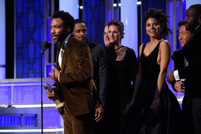 """Дональд Гловер, получивший награды как исполнитель главной роли и создатель лучшего комедийного сериала """"Атланта"""""""