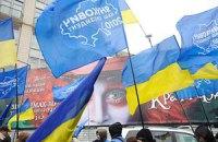 Сторонники Януковича митингуют в поддержку его внешней политики