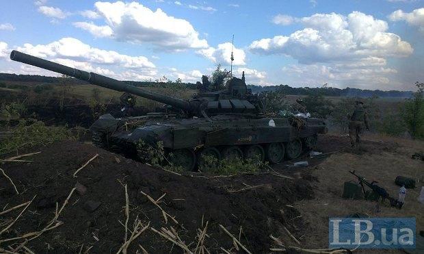 Подбитый российский танк возле Червоносельского