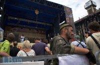 На Майдане устанавливают новую сцену