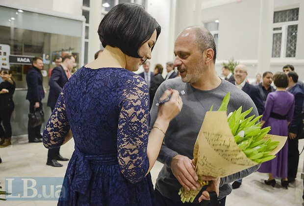 Соня Кошкина и Зураб Аласания, гендиректор НТКУ