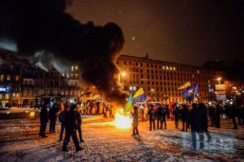 В центре Киева прошла акция, посвященная событиям на Майдане (добавлены фото и видео)