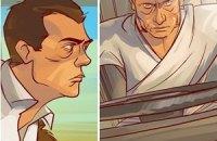 Человек-как-все Путин и наночеловек Медведев борются в комиксе с зомби