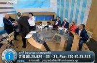У Греції під час ток-шоу політик напав на жінок