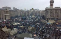 На Майдане Независимости стартовало Народное Вече