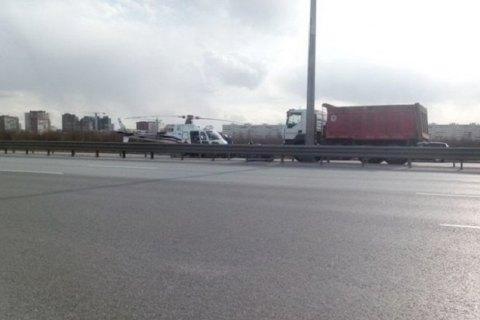 В Петербурге вертолет попал в ДТП