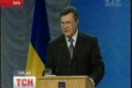 Янукович выступает с обращением к народу