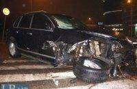 ДТП в Киеве: Porsche Cayenne протаранил два BMW и Mercedes