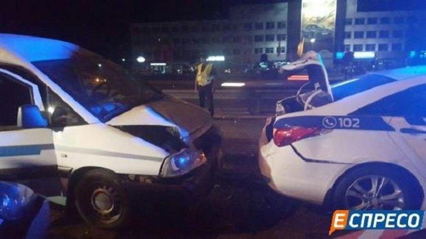ВКиеве нетрезвый шофёр сбил 2-х полицейских, оформлявших ДТП