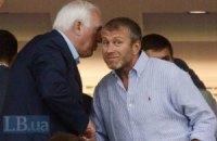 ВИПы на футболе: грустный Азаров и Абрамович в Киеве