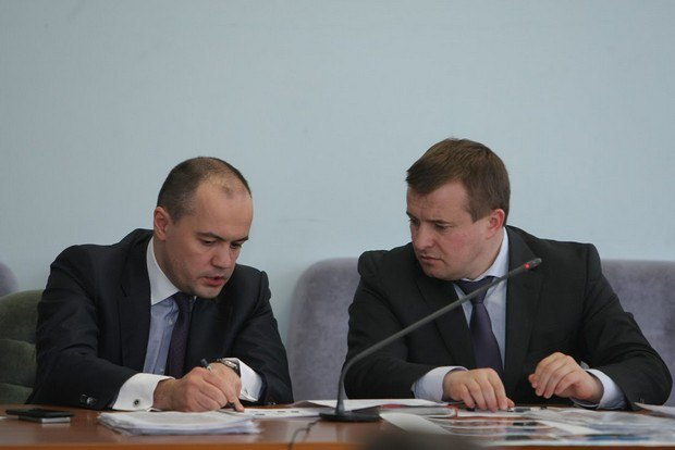 Глава ДТЭК Максим Тимченко и министр Владимир Демчишин