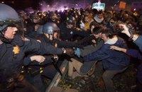 В Фергюсоне на акции протеста ранены два полицейских