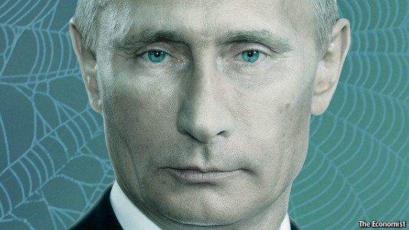 Иллюстрация к тексту о Путине в The Economist