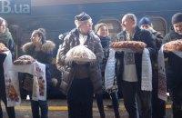 """""""Поезд единения"""" вернулся в Киев из поездки на юг и восток Украины"""