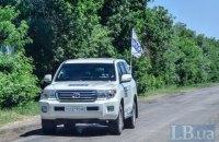 В Марьинке боевики обстреляли машину ОБСЕ