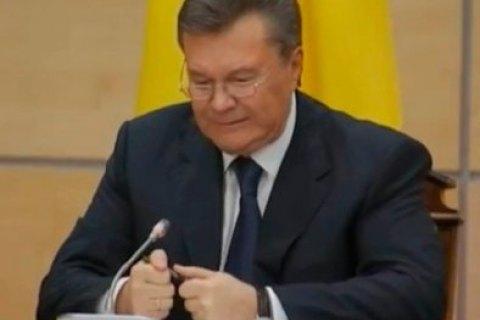 В.Янукович к годовщине побега обратился с письмом к мировым лидерам