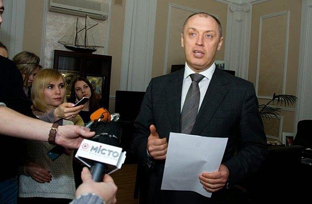 Олександр Мамай підчас заяви для ЗМІ