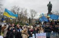 К студенческому Евромайдану присоединились КНЭУ и Университет им. Шевченко