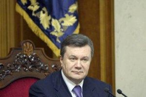 Янукович пожелал выпускникам счастливой жизненной дороги