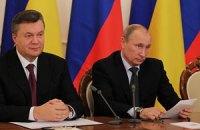 Янукович и Путин побеседуют за ужином