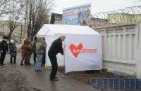 """Горсовет: палатки """"Батькивщины"""" снесли законно"""