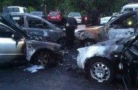 В Житомире на автостоянке сгорели пять машин