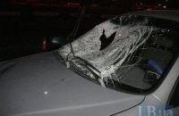 Ночью в Киеве Daewoo-такси сбил насмерть пешехода-нарушителя