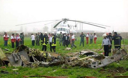 В Иране разбился медицинский вертолет, есть погибшие