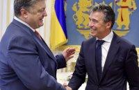 Порошенко и Расмуссен обсудили приоритетные направления для Украины