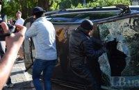 Активистов, нападавших на посольство России, задержали, - МИД