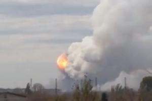 В Донецке слышны одиночные залпы и взрывы