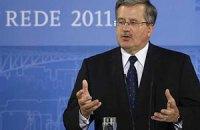 Коморовський: Італія підтримує Польщу в питанні наближення України до Євросоюзу