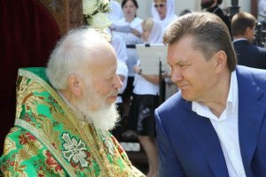 Янукович проведал митрополита Владимира