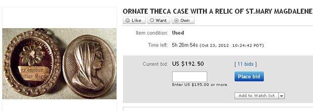 Мощи Марии Магдалины на eBay всего за 192 доллара
