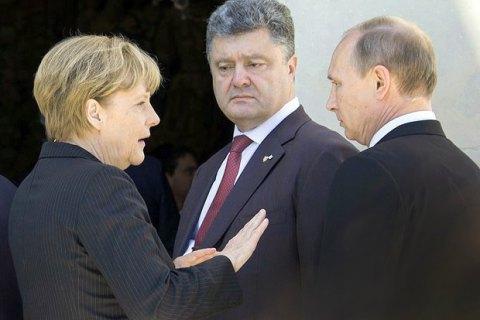 Меркель пригласила Порошенко, Путина и Олланда на ужин в Берлине
