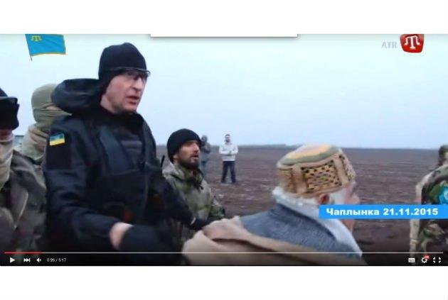Экс-беркутовец Николай Соломаха в Чаплынке. Кадр из видеосюжета АТР