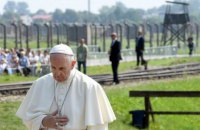 Папа Франциск посетил бывшие концлагеря Аушвиц и Биркенау