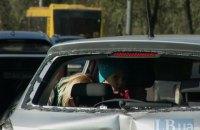 В Киеве Renault протаранил Skoda с маленьким ребенком в салоне