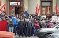 Здание Харьковской ОГА до сих пор не освободили от сепаратистов