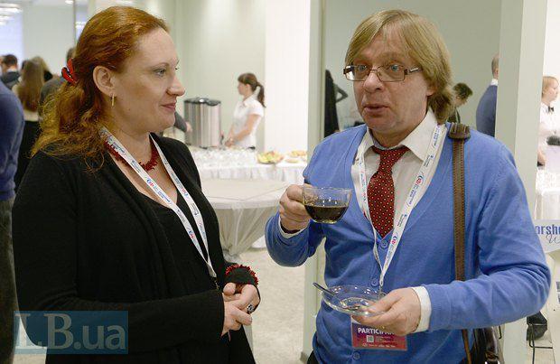 Эксперт Института Горшенина Наталия Клаунинг и журналист Игорь Слисаренко