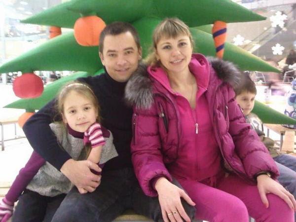 Андрій Ільгов з родиною
