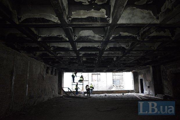 Во время Майдана в этом помещении находился пресс-центр