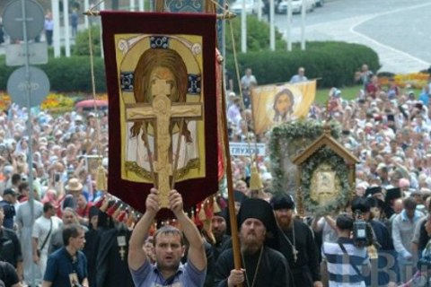 Церковь информирует о 80 тысячах участников Крестного хода встолице