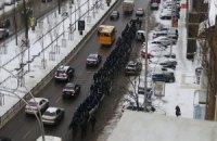 """К правительственному кварталу стягивают технику и """"Беркут"""", сообщается о минировании метро"""