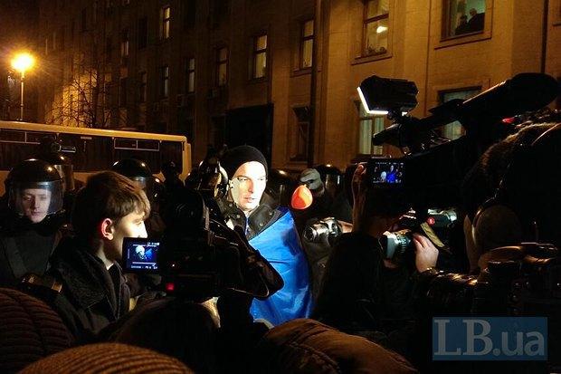 Студенты и организаторы зачитали обращение к президенту