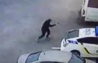 В сети появилось видео убийства патрульного в Днепре
